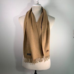 BURBERRY Cashmere Scarf Camel S230 Authentic